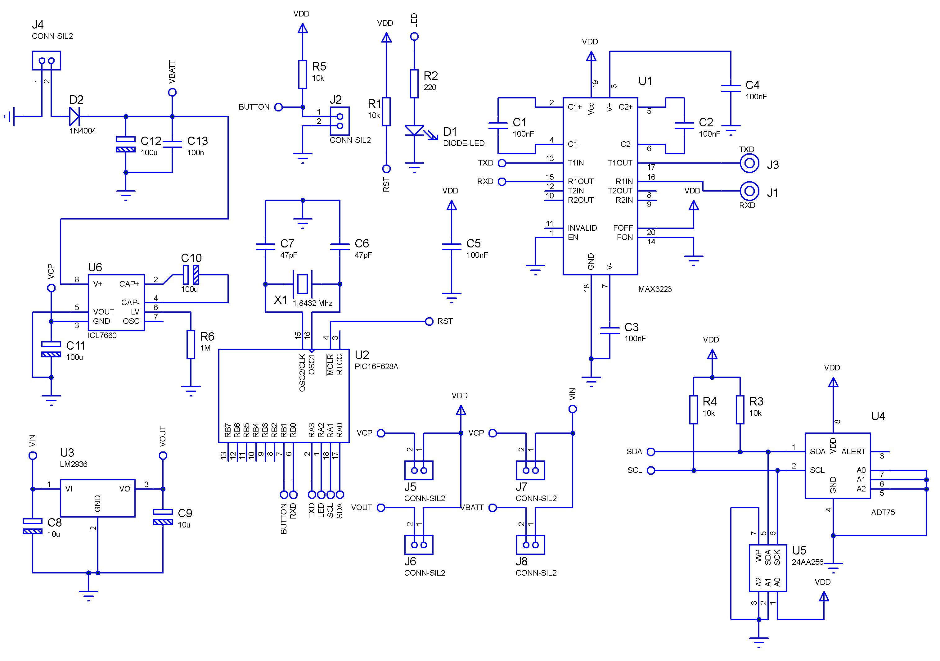 Portable Temperature Data Logger Electroshed